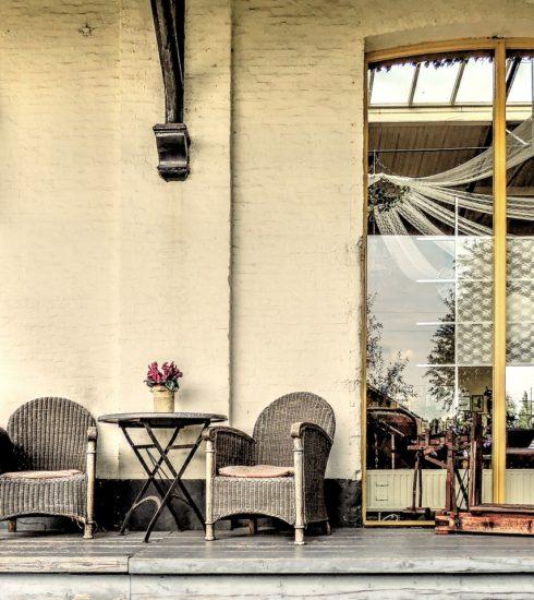 Terrace Seat Rattan Drive Goes  - TheoRivierenlaan / Pixabay